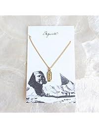 【Aquvii/アクビ】Egypt Necklace -cartouche-カルトゥーシュ ファラオの文字を囲むヒエログリフの文字モチーフ