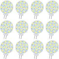 Jenyolon G4口金 LED電球 2.2W 10-30V AC/DC 300ルーメン30Wハロゲン電球相当 ビーム角180度 非調光 昼光色(6500K) 180度照明 12個セット