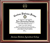 Abraham Baldwin州立大学Golden Stallions–エンボスシール–マホガニーゴールドトリム–卒業証書フレーム