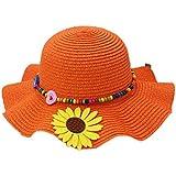 美しい夏ストロービーチSunflowerオレンジガールズ帽子