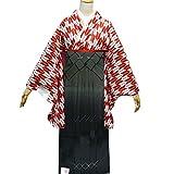 卒業式袴セット 女性レディース二尺袖着物ぼかし袴セット 5サイズ4色/S(87cm) グレー