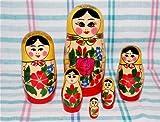 ロシア伝統柄のマトリョーシカ ロシヤーノチカ  6個組