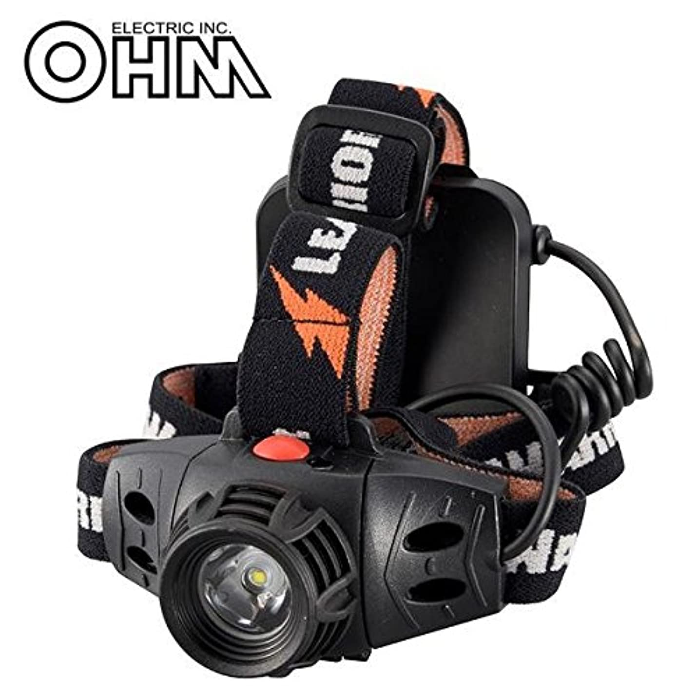 オーム電機 OHM LEAD WARRIOR 防水LEDヘッドライト LC-SY333-K
