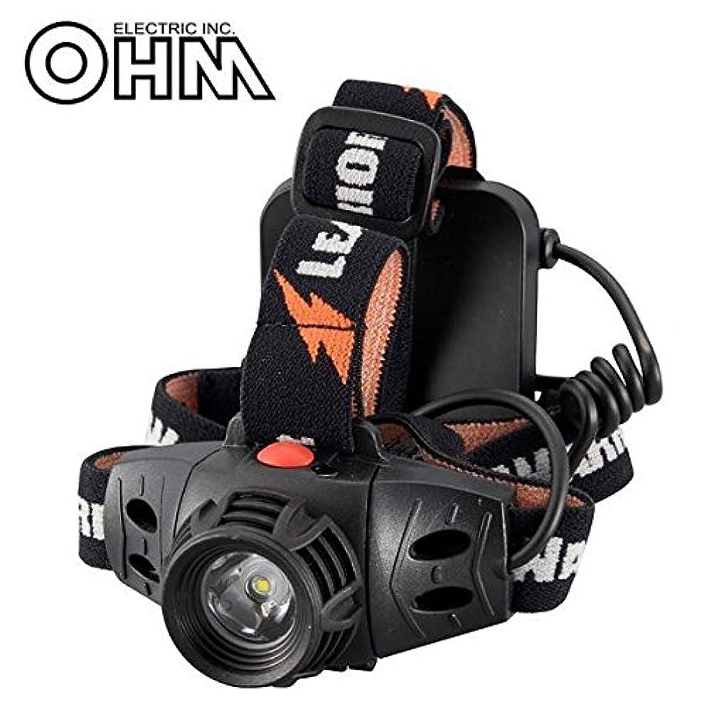 新しさポルティコナインへオーム電機 OHM LEAD WARRIOR 防水LEDヘッドライト LC-SY333-K