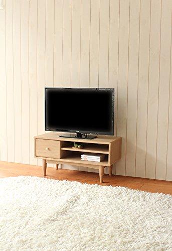 白井産業【SHIRAI】ローボードテレビ台おしゃれでかわいい北欧テイストほこほこHKO-4080HHKO-4080H
