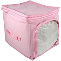 Atleran  伸びて増量  布団収納袋   衣類収納袋  ストレンジスタイル  通気性の良い不織布を使用  整理バック  重ねても大丈夫  消臭活性炭  スペースを節約  大容量  柔らかい手触り  抗菌?防臭  48 * 28 * 50cm (ピンク)