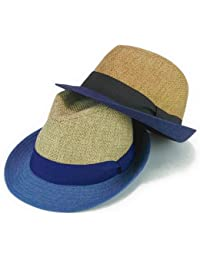ノーブランド品 フェイクジュートコンビ中折 ヤング帽子