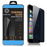 ガラスフィルム Tempered Glass×2 Way Privacy 硬度 9H 耐衝撃 強化ガラス × のぞき見防止 液晶保護フィルム スクリーンプロテクター for Apple iPhone 6s Plus / iPhone 6 Plus 5.5 インチ (iPhone 6 Plus /6S Plus 5.5