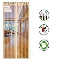 印刷 磁気スクリーンドア,蚊-証明フルフレームシール メッシュ網戸 そしてフルフレームフックはバグを防ぎます-f 120x210cm(47x83inch)
