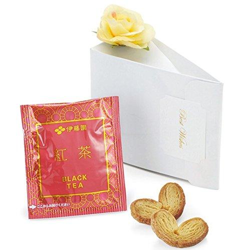 《レディーブラウン》ハートパイ2枚と紅茶1包のプチギフト(1個)【結婚式 披露宴 バレンタインデー ホワイトデー】