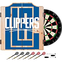 商標Gameroom nba7010-lac2 NBA Dart Cabinetセットダーツ&ボード – フェード – Los Angeles Clippers