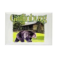 CafePress - Gatlinburg Bear Rectangle Magnet - Rectangle Magnet, 2x3 Refrigerator Magnet by CafePress