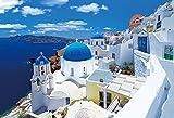 1053ピース ジグソーパズル カラフルな街並み イアのブルードーム-ギリシャ スーパースモールピース(26x38cm)