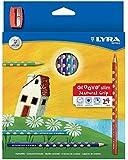 リラ LYRA 文具 色鉛筆 三角グリップ 美しい発色 グルーヴスリム 24色セット (シャープナー付き)