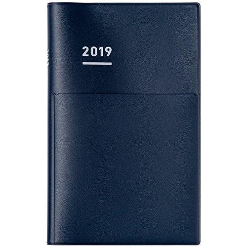 コクヨ ジブン手帳 Biz 手帳 2019年 A5 スリム マンスリー&ウィークリー マットネイビー ニ-JB1DB-19 2018年 12月始まり