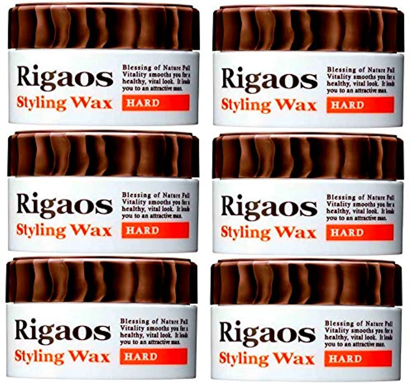 ご予約画像カフェテリア【まとめ買い6個セット!】Rigaos リガオス スタイリングワックス 「ハード ミニ」(15g)× 6個