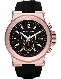 [マイケルコース] MICHAEL KORS 腕時計 メンズもお薦めサイズ☆ピンクゴールド&ブラックカラーののラバーストラップ、クロノグラフウオッチ MK8184 レディース [並行輸入品]