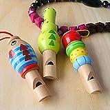 Baby Wooden Cartoon Animal Whistle Toy Educational Music Instrument Toy Kakiyi