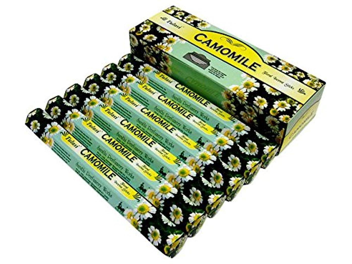 グリース電球幸運なことにTULASI(トゥラシ) カモミール香 スティック CAMOMILE 6箱セット