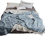Skazi 六重毛巾毯 100%棉 不易散发灰尘 柔软 吸湿性 抗过敏 防螨 亲肤纱布毯