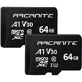 ARCANITE 2 Pack 64GB microSDXC Memory Card - UHS-I U3, A1, V30, 4K, C10, MicroSD, Optimal Read speeds up to 90 MB/s