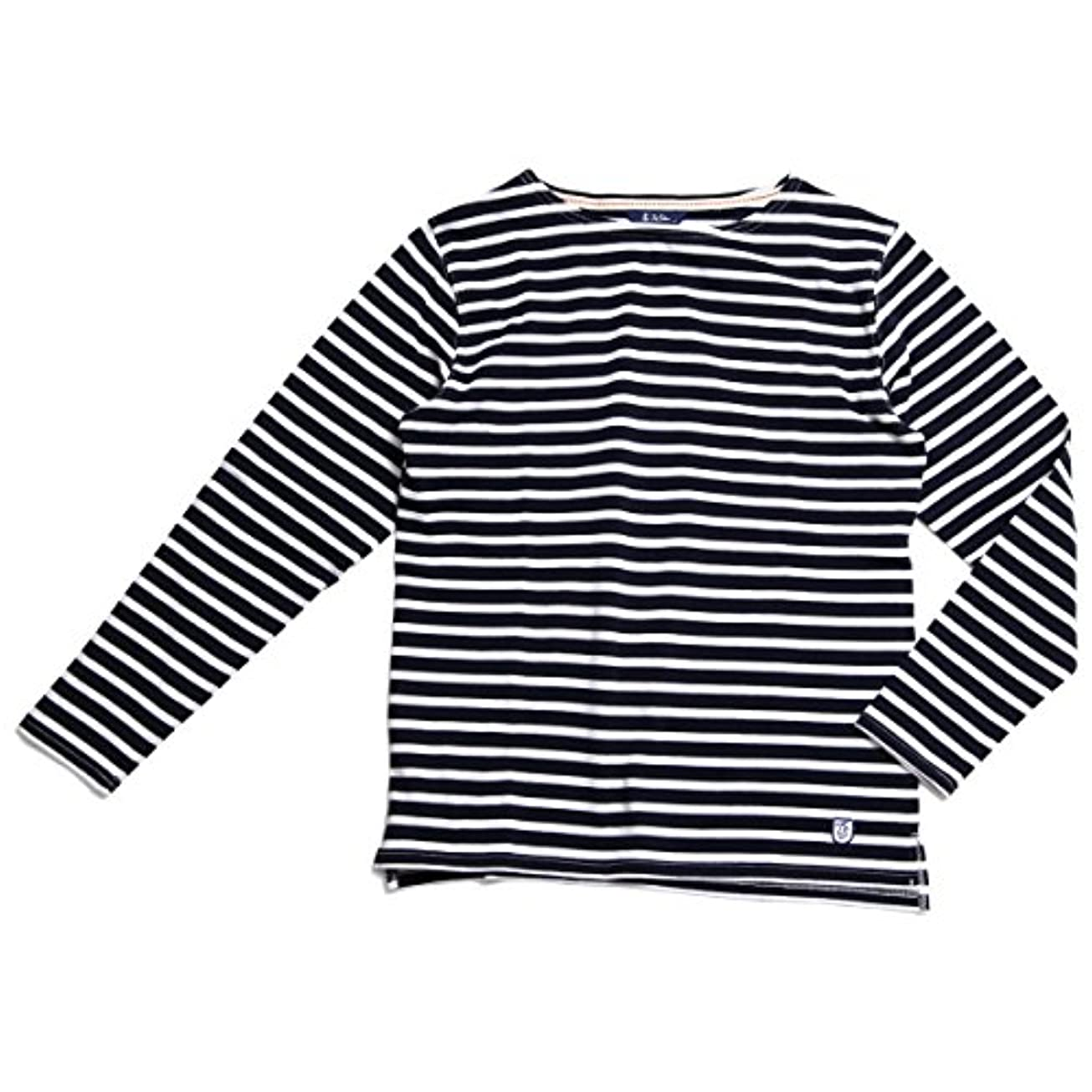 洗う等価自伝TOP SIDER(トップサイダー) ボートネックTシャツ メンズ コットン100% ロンT M L XL 長袖Tシャツ カットソー ボーダー ホワイト ネイビー レッド
