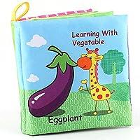 honmofunベビー布Booksソフトベビー赤ちゃん、幼児の書籍非毒性ファブリッククリンクル用紙アクティビティBooks、教育玩具野菜