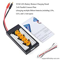 Hobby-ace Xt60 Lipo Battery Balance Charging Board Plate 2-6s Parallel Connect