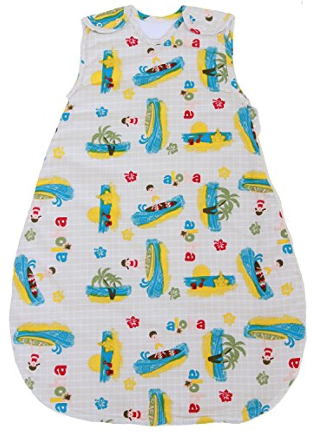 Baby Sleeping Bag with Surfer Pattern, Summer Model 1 TOG (Medium (10 - 24 mos)) by BabyinaBag