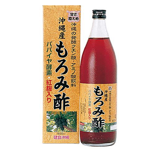 沖縄産もろみ酢 パパイヤエキス・紅麹入り 900ml