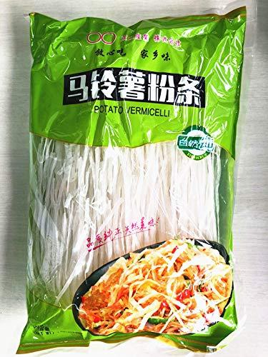 中国産 純天然緑色食品 生友馬鈴薯(土豆)粉条寛 、ジャガイモのはるさめ中華料理人気商品・中華食材名物
