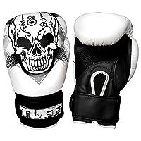 Tuff (タフ) ボクシンググローブ スカル ホワイト 本革製 (16)