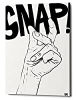 "Epicグラフィティスナップby Giuseppe Cristiano、Gicleeキャンバス壁アート 12"" x 16"" ホワイト EPIC-CA12161435"