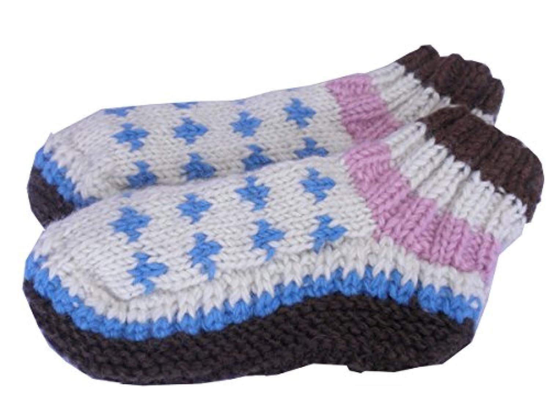 アジアン衣料,ネパール手編みウールソックス,NKU-14