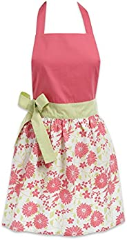DII 100% Cotton, Trendy & Fashion Daisy Skirt Kitchen Women Apron, Adjustable Neck & Waist Ties, Machine Washable, Embroider