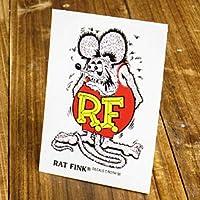 ラットフィンク ステッカー RatFink USA サイズS パープル_SC-RDUSA022PU-MON