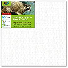 20x20cm(8x8 Inch) 6pcs - Artoys 280 GSM Acrylic Artist Premium Quality Pre-Stretched Blank Canvas Frame Triple Gesso Primed Deep Edge 100% Cotton White Professional Blank Canvases