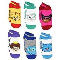 Daniel Tiger's Neighborhood Boys Girls 6 pack Socks (4-6 / Shoe: 7-10 Orange/Multi)
