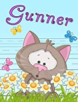 """Gunner: Personalized Book with Child's Name, Primary Writing Tablet for Kids, 65 Sheets of Practice Paper, 1"""" Ruling, Preschool, Kindergarten, 1st Grade, 8 1/2"""" x 11"""""""