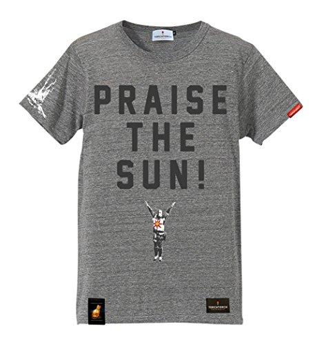 ダークソウル × TORCH TORCH/ 太陽の戦士ソラールのTシャツ: ヘザーグレー Mサイズの詳細を見る