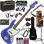 Squier エレキベース 初心者 入門 シャープなルックスと、プレイヤビリティの高さを融合させたジャズベース ベースの練習が楽しくなるCDトレーナー(エフェクターも内蔵)と人気のVOX Pathfinder BASS10が入った強力21点セット Contemporary Jazz Bass/OBM(オーシャンブルーメタリック)