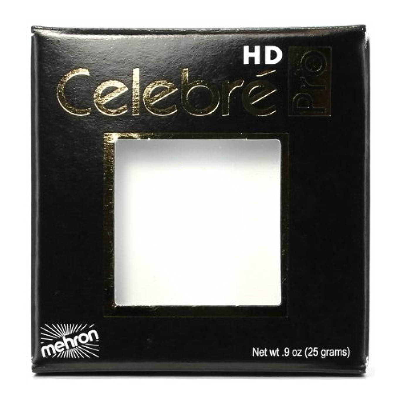 時計回り無謀ボルト(3 Pack) mehron Celebre Pro HD Make-Up - White (並行輸入品)