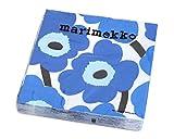 マリメッコ(marimekko) ペーパーナプキン ウニッコ ブルー 33x33cm 20枚入り UNIKKO 552640 [並行輸入品]