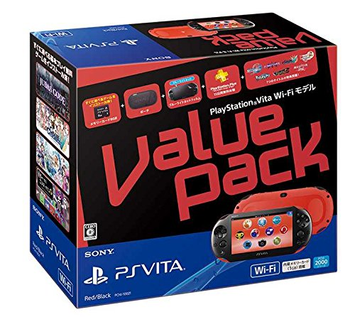PlayStation Vita Value Pack Wi-Fiモデル レッド/ブラック PCHJ-10021 PSVITA