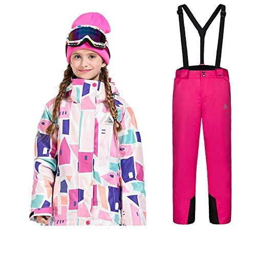 キッズスキージャケット 男の子、女の子用スキースーツ、防水パ...
