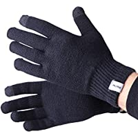 Wool Ski Glove Liner with Touch Screen Technology - Premium Merino Wool Winter Gloves for Skiing, Cold Weather