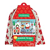 """Mudpuppy Christmas Train to Go Puzzle, 36 Pieces — 12"""" x 9"""", For Ages 3-6, Colorful Holiday Artwork, Made with Safe, Non-Toxic Materials"""