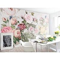 壁画、クリエイティブ3Dウォールペーパー壁画コンタクトペーパーベッドルームウォールペーパー、フォトローズフラワー壁紙280 cm(W)x 180 cm(H)