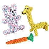 犬用 ロープ 犬噛むおもちゃ ペット用デンタルニンジン おもちゃ  歯ぎしり 清潔-ニンジン (三つ)