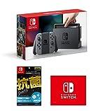 [Amazon.co.jp限定][液晶保護フィルムEX付き (任天堂ライセンス商品) ]Nintendo Switch Joy-Con (L) / (R) グレー+マイクロファイバークロス